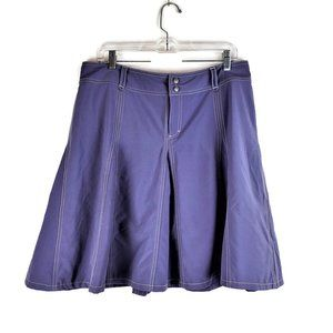 Athleta Skort Purple A-Line Zip Drawstring
